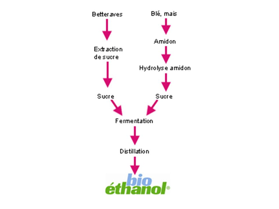 Comment le fabrique t-on?.On le fabrique par un procédé de fermentation industrielle, le sucre contenu dans les végétaux tels que le blé, le maïs etc.