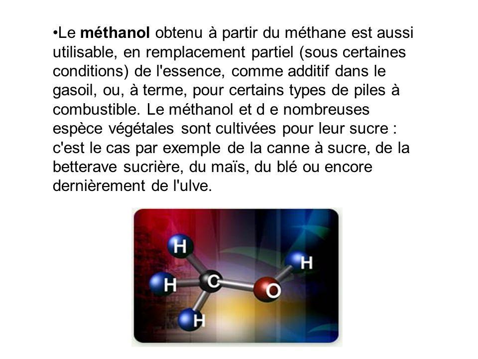 Les biocarburants Le bio-éthanol est obtenu par fermentation de sucres par des levures. L'éthanol peut remplacer partiellement ou totalement l'essence