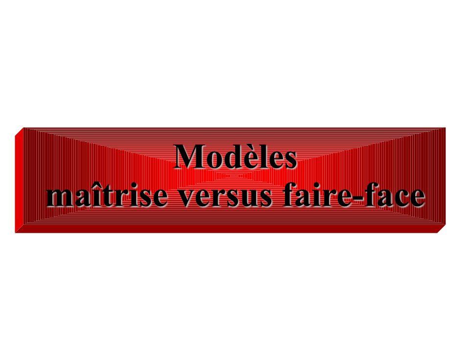 Modèles maîtrise versus faire-face