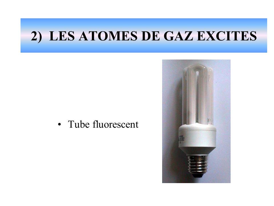 2) LES ATOMES DE GAZ EXCITES Tube fluorescent