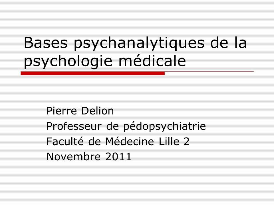 Bases psychanalytiques de la psychologie médicale La relation médicale La relation médecin-patient est actuellement en pleine mutation.
