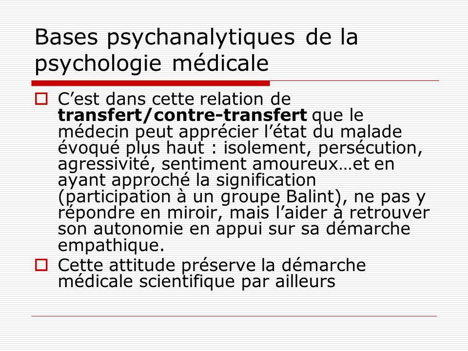 Bases psychanalytiques de la psychologie médicale Les trois points de vue sur le fonctionnement psychique Le point de vue dynamique : « ça fait bouger » lappareil psychique est le siège de forces en conflit, qui opposent désirs et défenses.