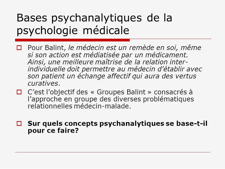 Bases psychanalytiques de la psychologie médicale RAPPEL DES PRINCIPAUX CONCEPTS PSYCHANALYTIQUES UTILES Freud 1856-1939 Affect, pulsion et transfert Les trois points de vue sur le fonctionnement psychique et les instances Les deux principes du fonctionnement psychique et leur équilibre