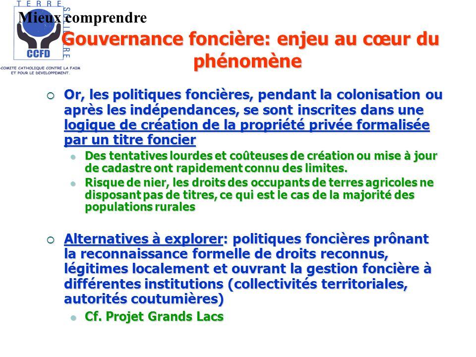Or, les politiques foncières, pendant la colonisation ou après les indépendances, se sont inscrites dans une logique de création de la propriété privé