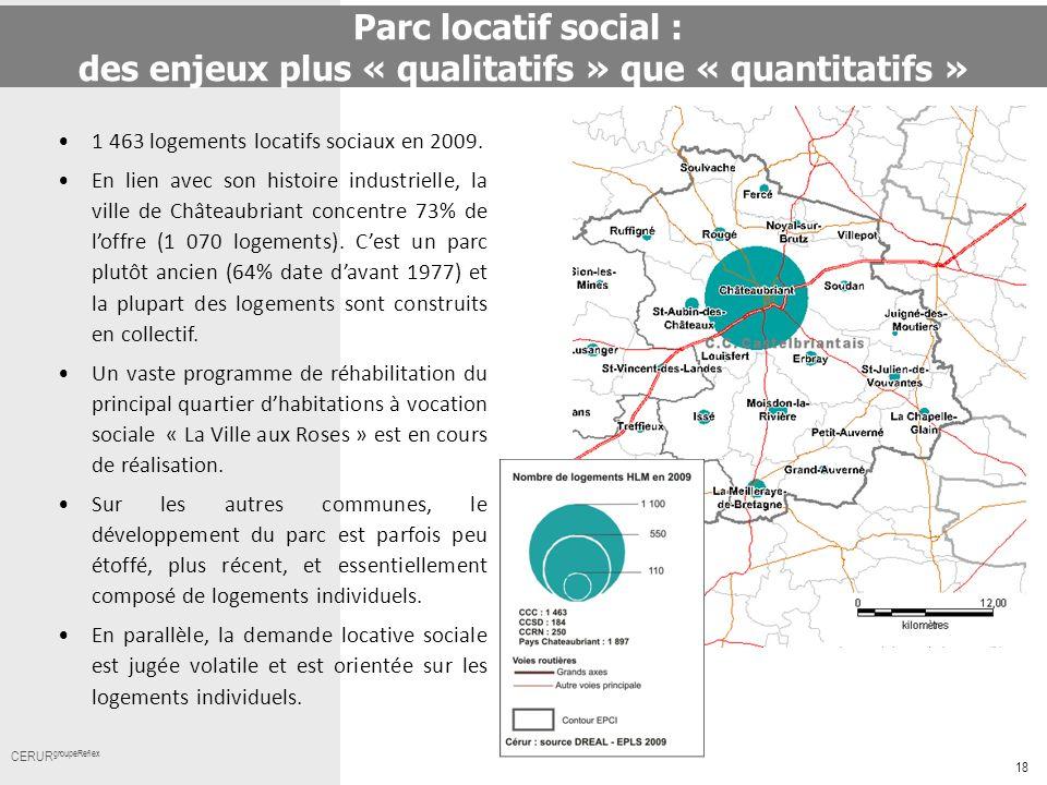 18 Cerur,groupeReflex_ Titre CERUR groupeReflex 1 463 logements locatifs sociaux en 2009. En lien avec son histoire industrielle, la ville de Châteaub