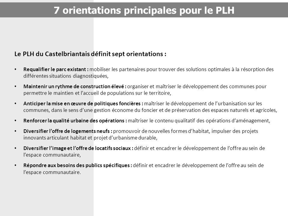 Le PLH du Castelbriantais définit sept orientations : Requalifier le parc existant : mobiliser les partenaires pour trouver des solutions optimales à