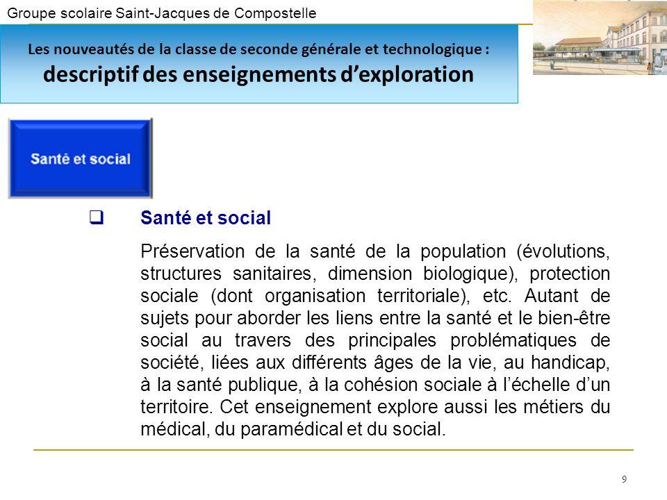 9 Santé et social Préservation de la santé de la population (évolutions, structures sanitaires, dimension biologique), protection sociale (dont organisation territoriale), etc.