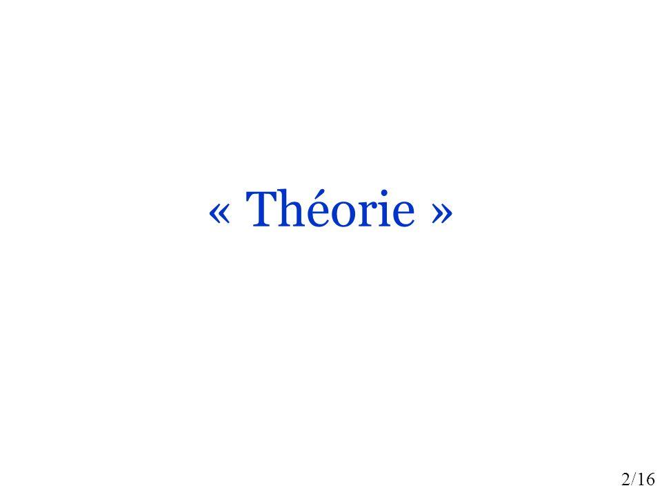 2/16 « Théorie »
