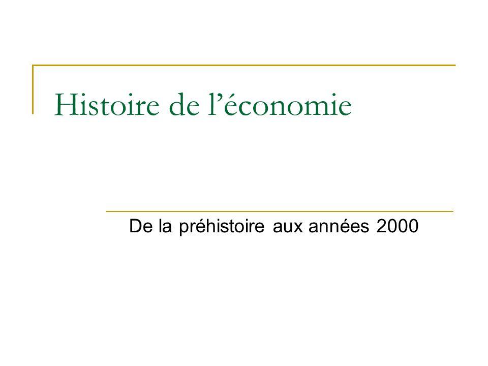 Histoire de léconomie De la préhistoire aux années 2000