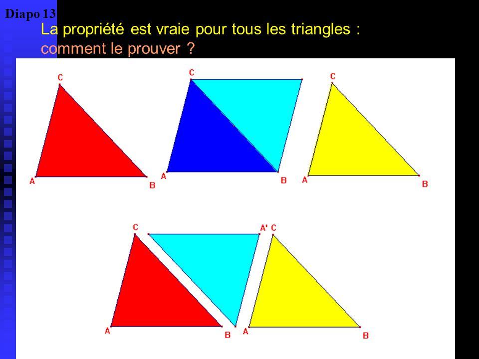 Théorème : la somme des angles dun triangle est égale à deux droits Quelle est la validité dune telle preuve .