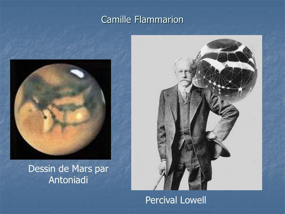 Camille Flammarion Dessin de Mars par Antoniadi Percival Lowell