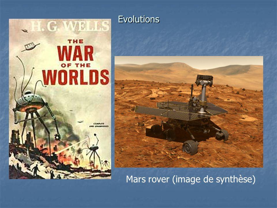 Evolutions Mars rover (image de synthèse)