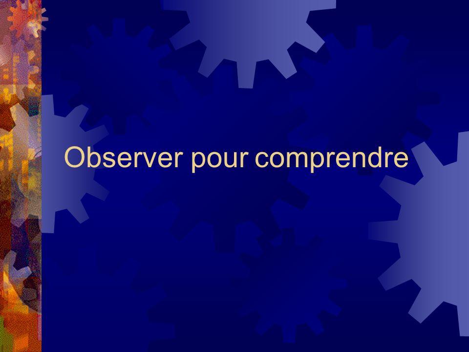 Observer pour comprendre
