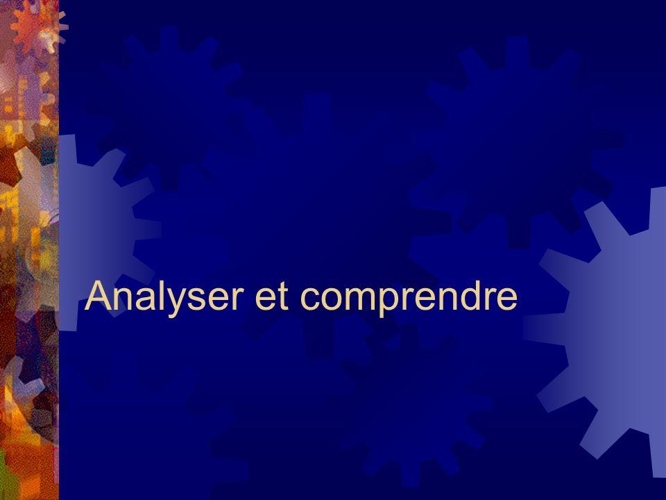 Analyser et comprendre