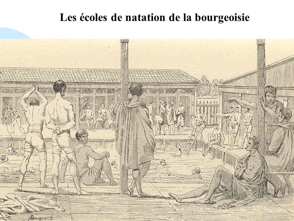 Passer à la première page Les écoles de natation de la bourgeoisie