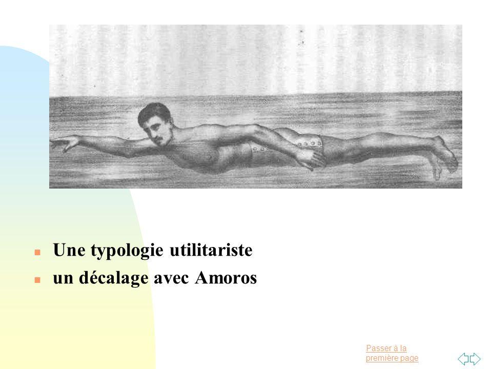 Passer à la première page n Une typologie utilitariste n un décalage avec Amoros