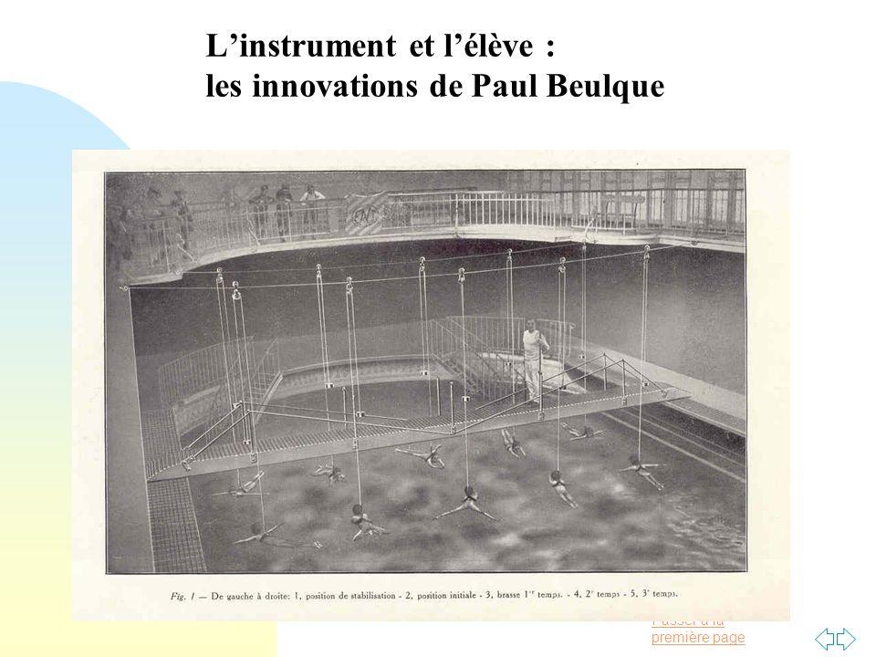Passer à la première page Linstrument et lélève : les innovations de Paul Beulque