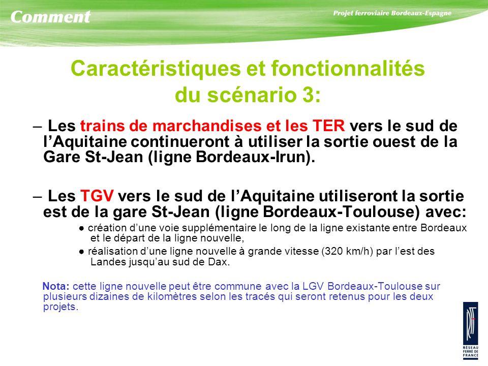 – Les trains de marchandises et les TER vers le sud de lAquitaine continueront à utiliser la sortie ouest de la Gare St-Jean (ligne Bordeaux-Irun). –