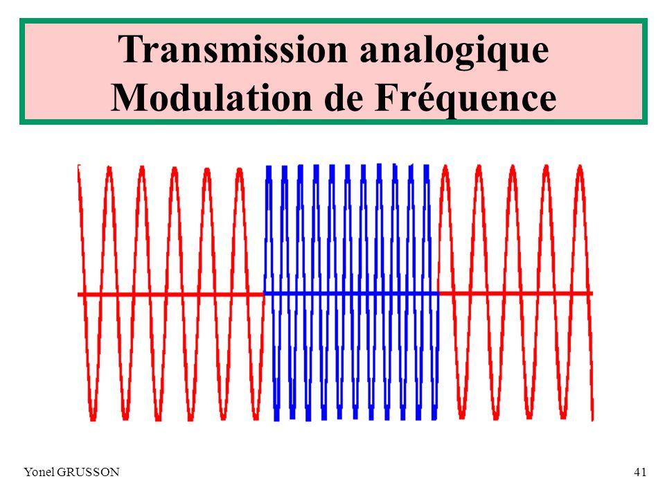 Yonel GRUSSON41 Transmission analogique Modulation de Fréquence