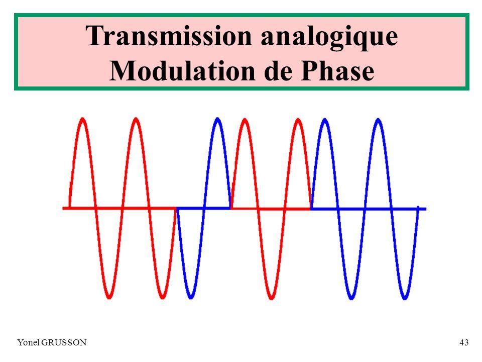 Yonel GRUSSON43 Transmission analogique Modulation de Phase