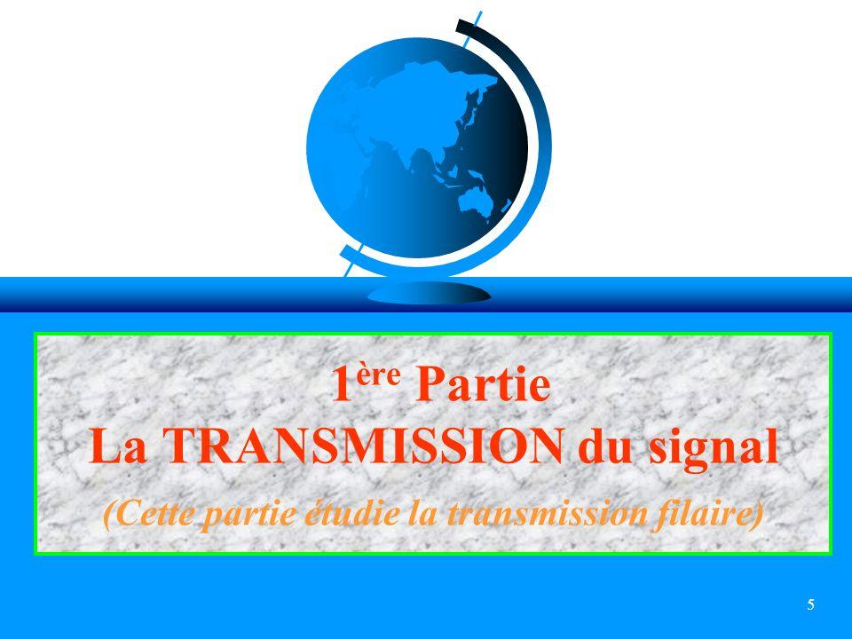 5 1 ère Partie La TRANSMISSION du signal (Cette partie étudie la transmission filaire)