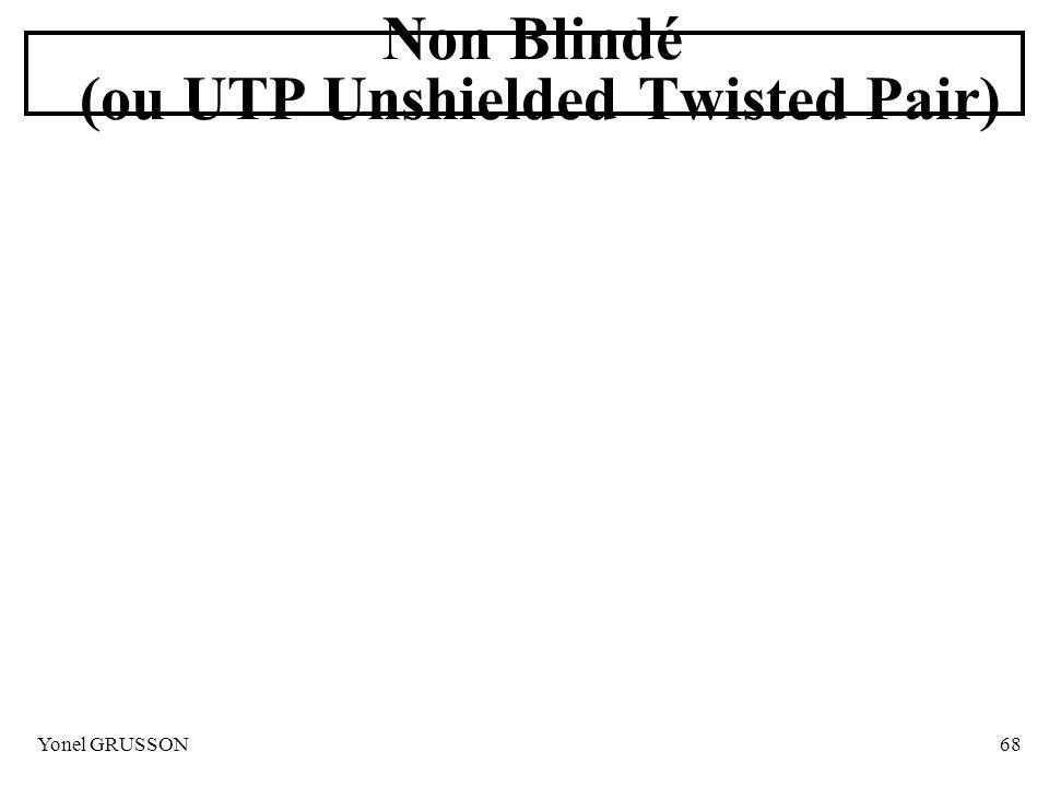 Yonel GRUSSON68 Non Blindé (ou UTP Unshielded Twisted Pair)