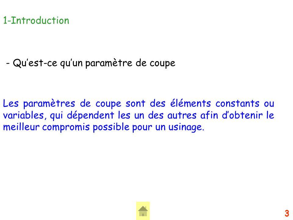 14 4-Lavance f (mm/tr/dent) et la vitesse davance Vf (mm/min) - Quappelle-t-on lavance « f ».