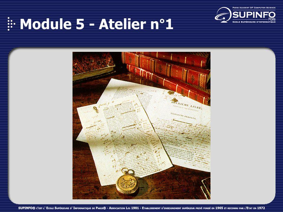 Module 5 - Atelier n°1