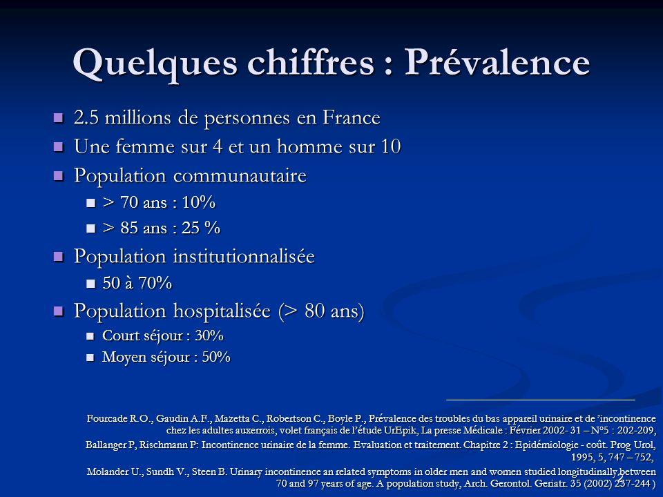 2 Quelques chiffres : Prévalence 2.5 millions de personnes en France 2.5 millions de personnes en France Une femme sur 4 et un homme sur 10 Une femme