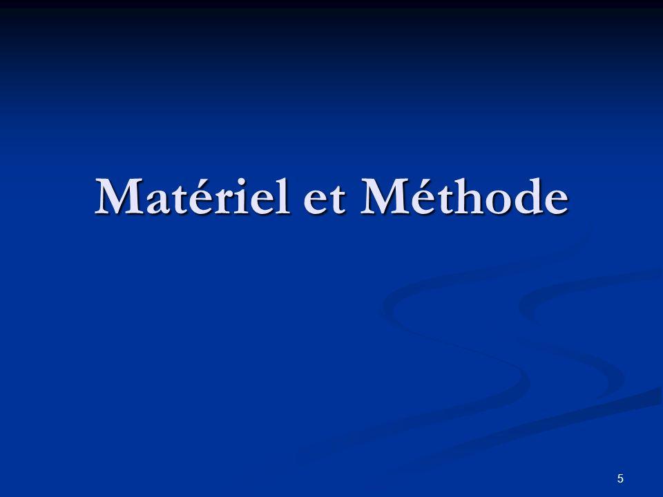 5 Matériel et Méthode