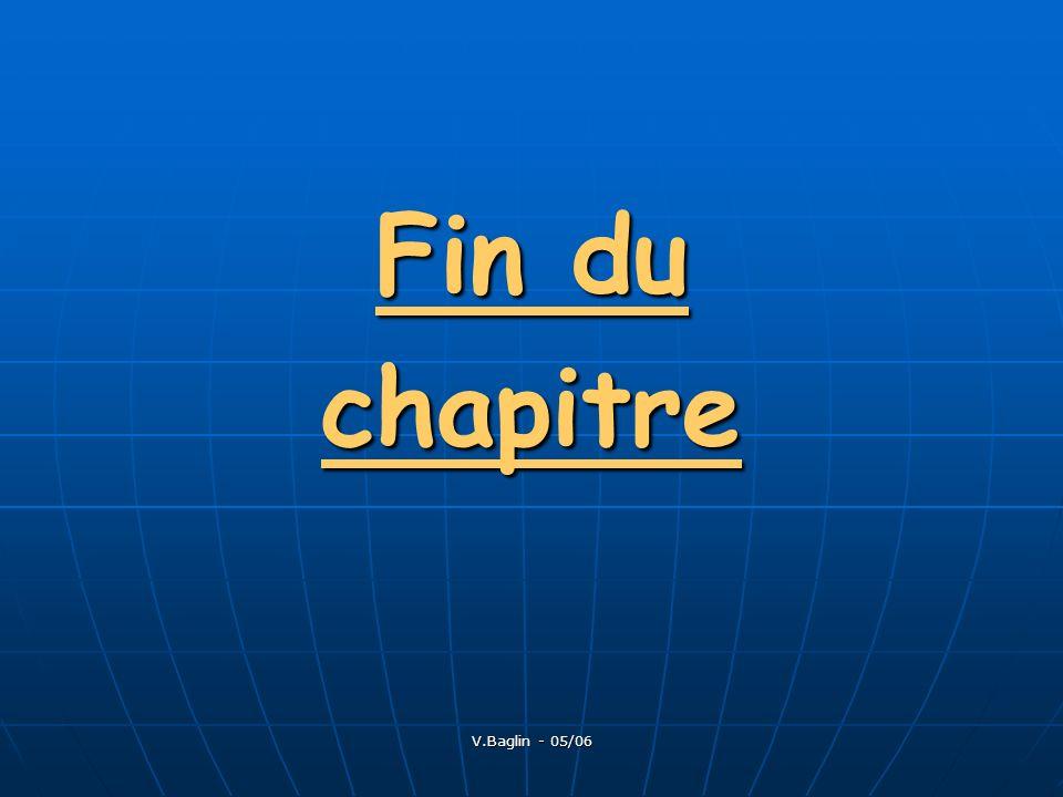 V.Baglin - 05/06 Fin du chapitre
