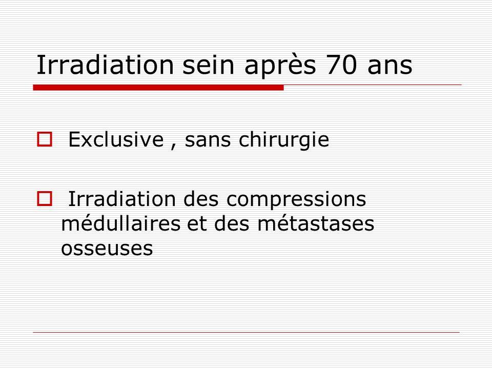 Irradiation sein après 70 ans Exclusive, sans chirurgie Irradiation des compressions médullaires et des métastases osseuses