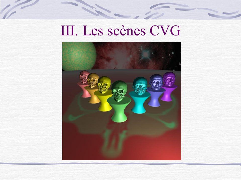 III. Les scènes CVG