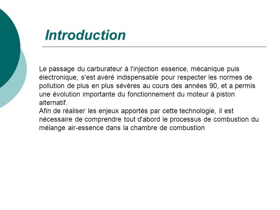 Introduction Le passage du carburateur à l'injection essence, mécanique puis électronique, s'est avéré indispensable pour respecter les normes de poll