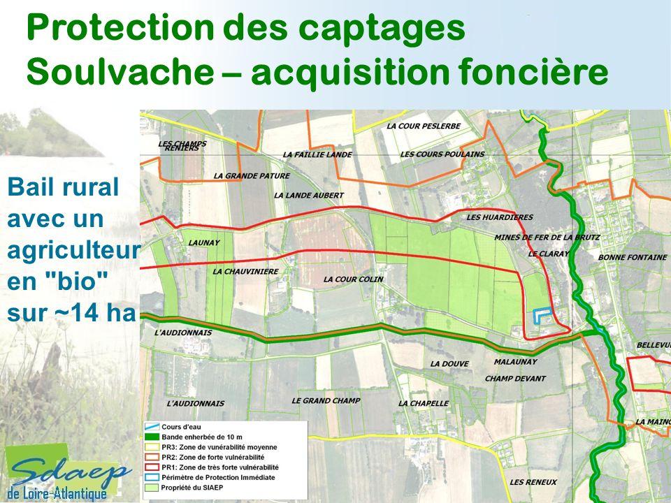 Protection des captages Soulvache – acquisition foncière Bail rural avec un agriculteur en