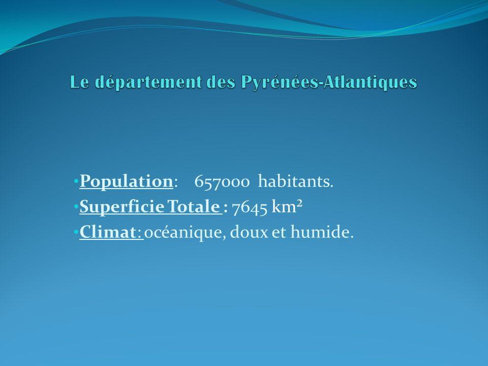 Population: 657000 habitants. Superficie Totale : 7645 km² Climat: océanique, doux et humide.