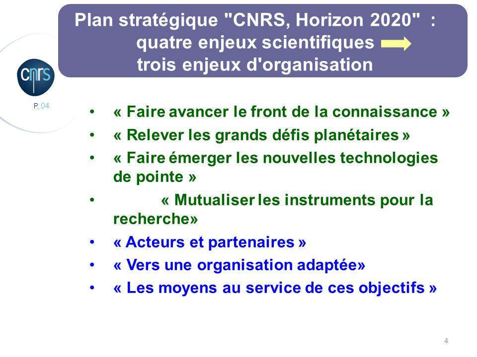 P. 04 4 Plan stratégique