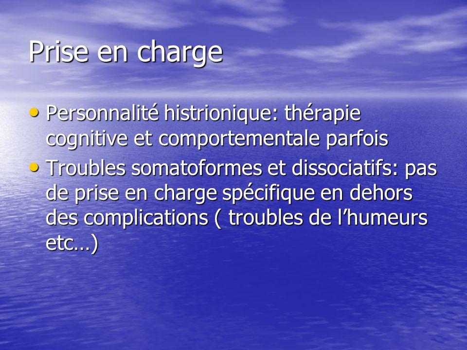 Prise en charge Personnalité histrionique: thérapie cognitive et comportementale parfois Personnalité histrionique: thérapie cognitive et comportement