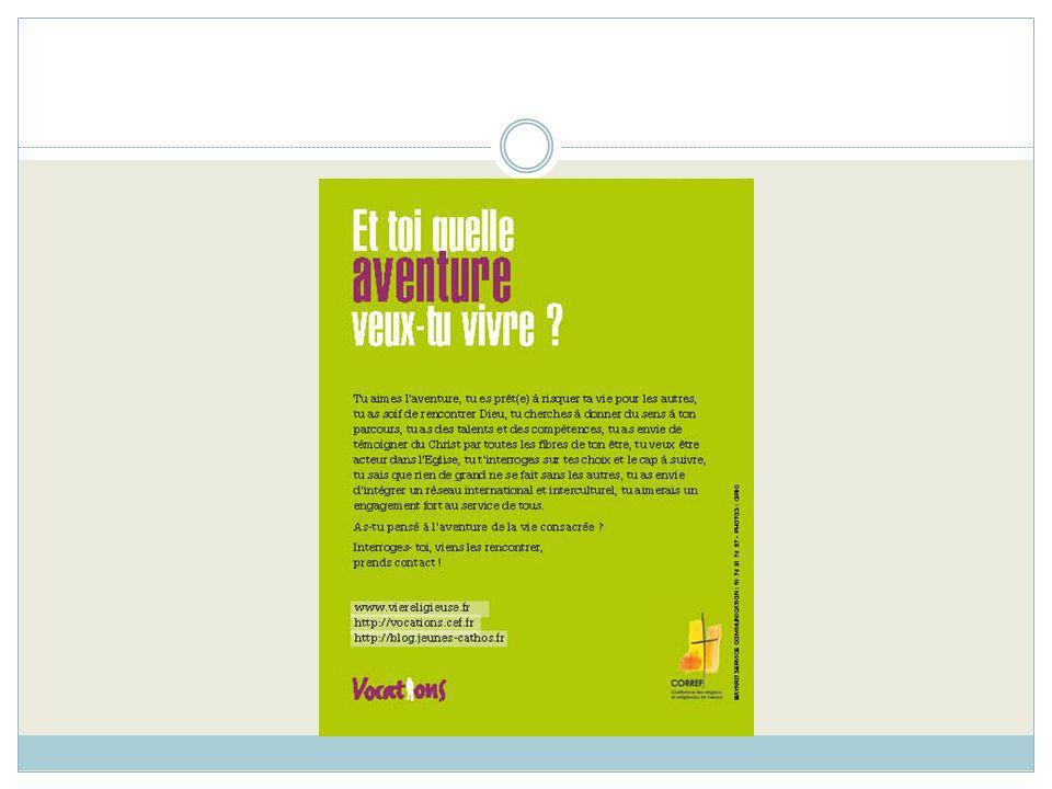 « Promouvoir la vie consacrée » Cest le thème de la revue Église et vocations n° 6 (novembre 2011) pour accompagner la réflexion tout au long de lannée.
