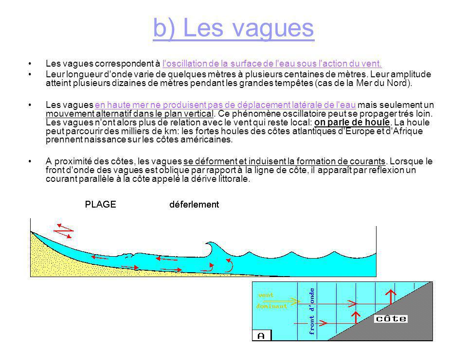 c) Les grands courants océaniques la conjonction de nombreux facteurs: -action des vents alizés qui entraînent la couche d eau superficielle, -intervention de la force de Coriolis due à la rotation de la terre, -différence de température et de salinité des masses d eau polaires et équatoriales...