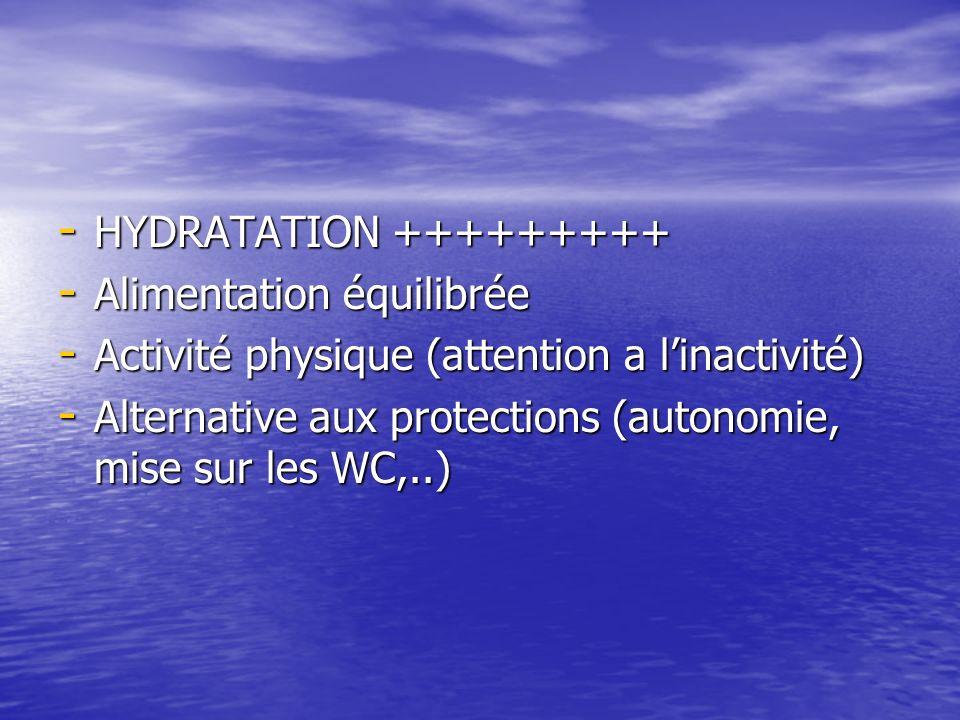 -H-H-H-HYDRATATION +++++++++ -A-A-A-Alimentation équilibrée -A-A-A-Activité physique (attention a linactivité) -A-A-A-Alternative aux protections (aut