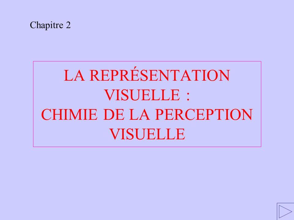 LA REPRÉSENTATION VISUELLE : CHIMIE DE LA PERCEPTION VISUELLE Chapitre 2