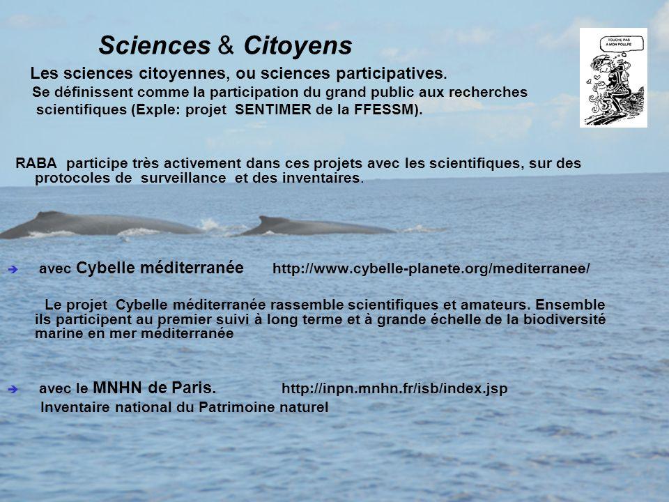 Sciences & Citoyens Les sciences citoyennes, ou sciences participatives. Se définissent comme la participation du grand public aux recherches scientif
