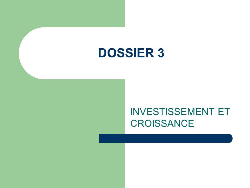 DOSSIER 3 INVESTISSEMENT ET CROISSANCE