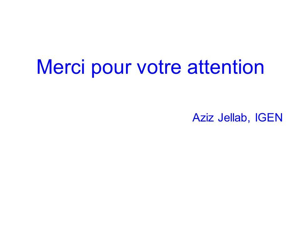 Merci pour votre attention Aziz Jellab, IGEN