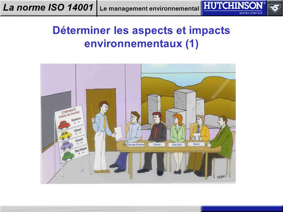 La norme ISO 14001 Le management environnemental Déterminer les aspects et impacts environnementaux (1)