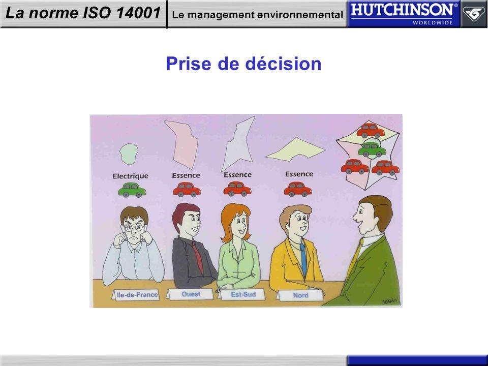 La norme ISO 14001 Le management environnemental Prise de décision
