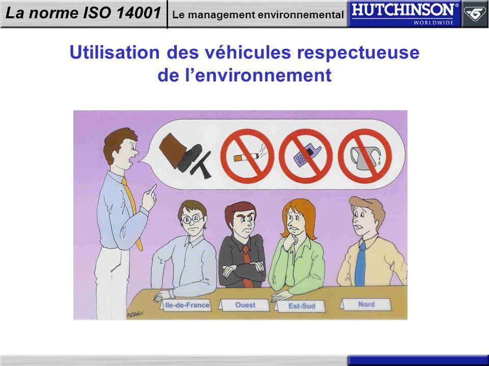 La norme ISO 14001 Le management environnemental Utilisation des véhicules respectueuse de lenvironnement