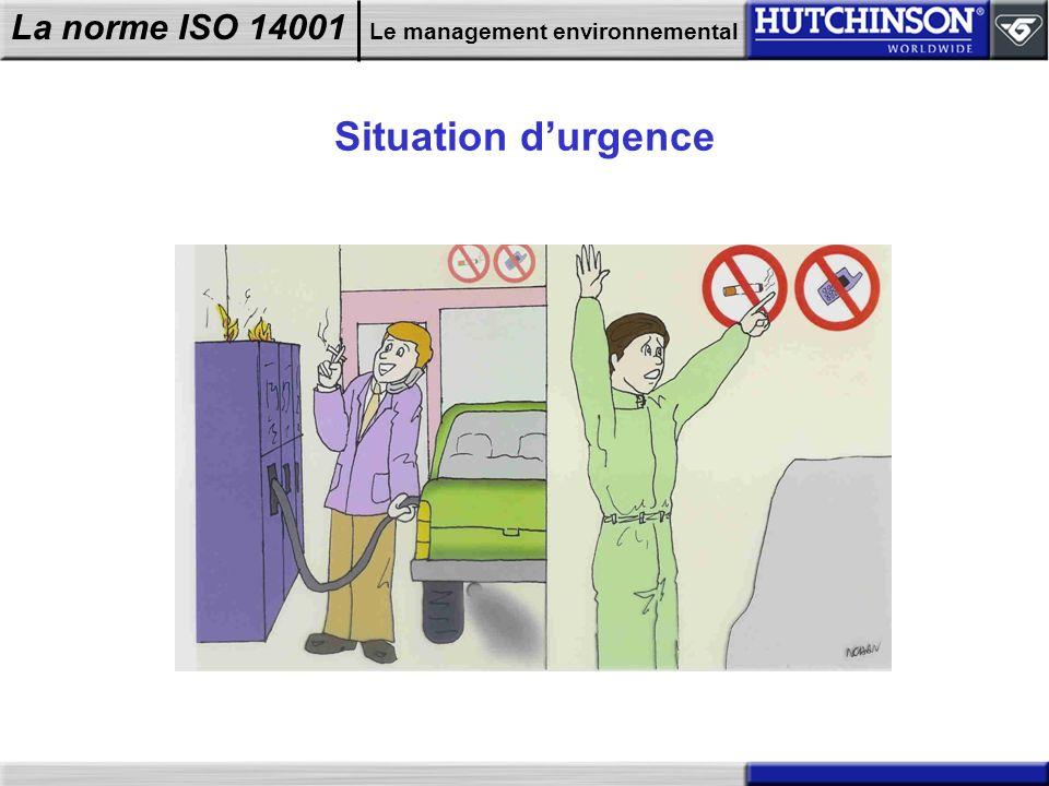 La norme ISO 14001 Le management environnemental Situation durgence