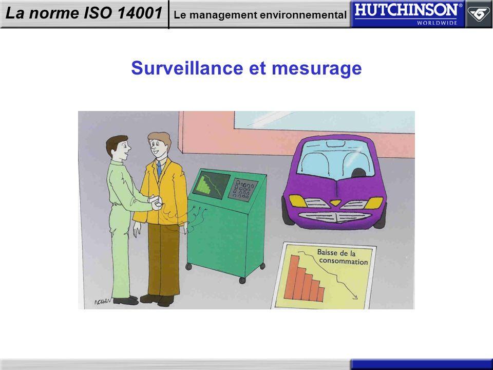 La norme ISO 14001 Le management environnemental Surveillance et mesurage
